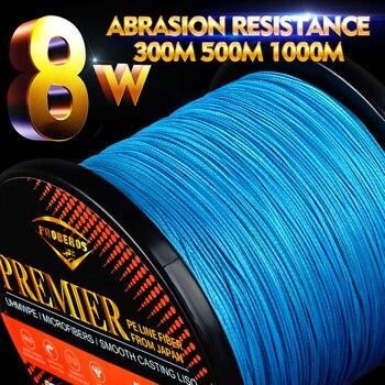 Proberos Fishline 8 stands 300M & 500M & 1000M sedal de pesca rojo/Verde/gris/amarillo/azul 8 tejidos trenzados línea 20LB-300LB PE