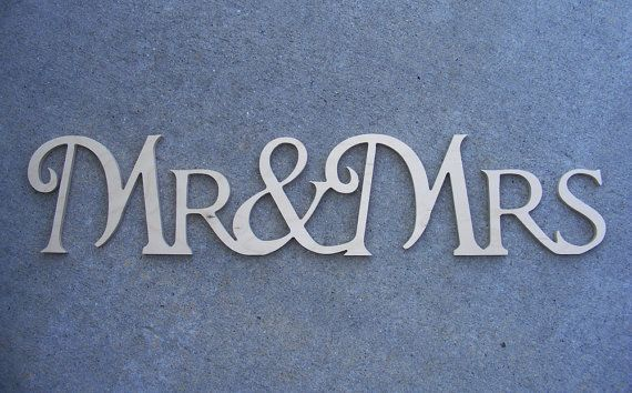free shipping mrmrs mr mrs connected wooden monogram script letters freestanding