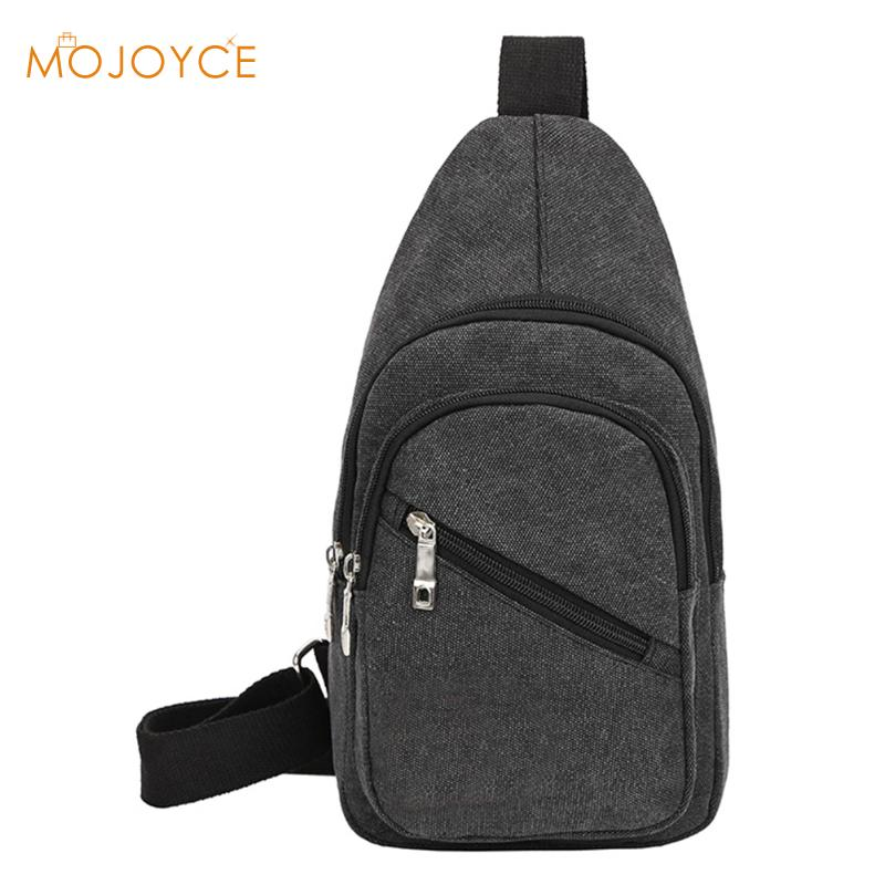 Vintage Men's Messenger Bags Canvas Sling Shoulder Bag Casual Travel Chest Crossbody Bag Male Messenger Anti-theft Black for Men цена