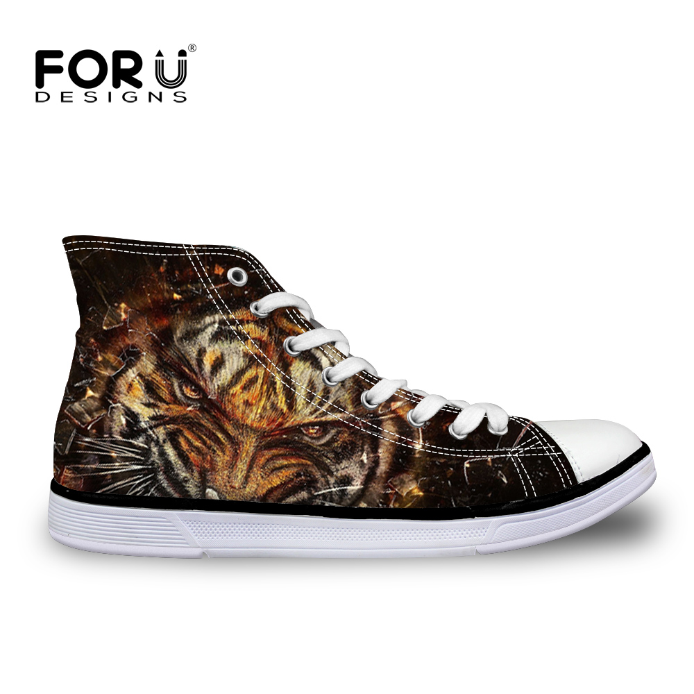 Tiger Wild Hand Hand Hand Printed Mujer Hombre Letaher Bota Comfort Zapatos All Talla 148ecd