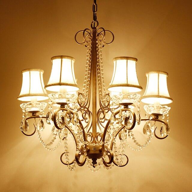 País estilo rústico blanco lámpara comedor cristal redondo lámpara ...