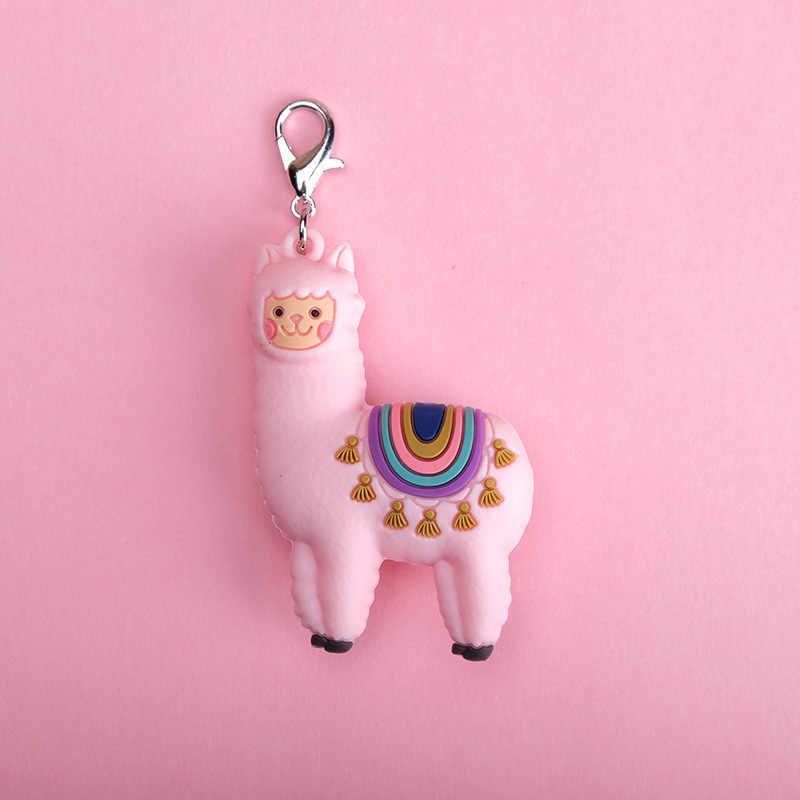 Epóxi Tridimensional Bonito Criativa Dos Desenhos Animados Little Sheep Alpaca Boneca Chaveiro Bag Pingente Jóias Pequeno Presente Chaveiro Menina