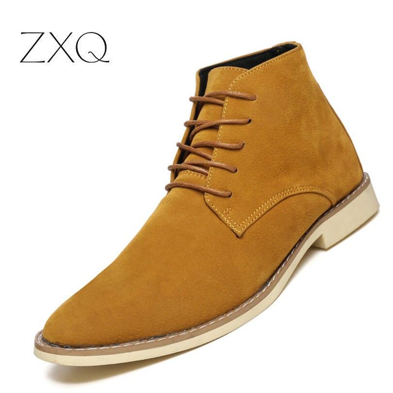 Hiver Chaussures Confortables Nouvelle Plein Cheville yellow