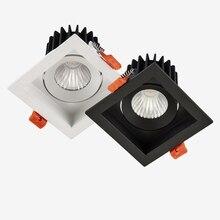 Luz LED descendente de 12w COB, iluminación para el hogar para sala de estar, dormitorio, lámpara de techo, luz cuadrada, focos antirreflejo