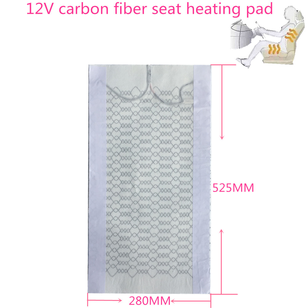 Carbon Fiber Car Seat Heater Heating Pads Winter Warmer Heated Car Vehicle SUV Seat Cushion Cover It applies to any vehicle 12V