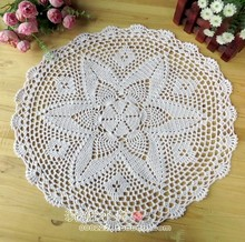 free shipping fashion cotton crochet table cover table cloth for wedding decoration withe flowers coaster mat pad coaster