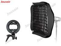 Godox Ajustable Flash Softbox Grid 80cm * 80cm+S type Bracket+Honeycomb Grid Mount Kit for Flash Speedlite Studio Shooting CD50