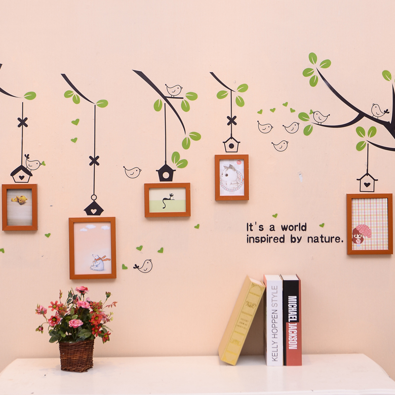 Online-Shop 5 stücke Familie Baum Foto Rahmen Set mit Vögel Baum ...
