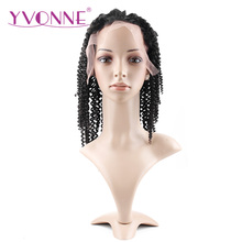 YVONNE Kinky Curly Brazilian Virgin Hair Lace Front Wigs For Black Women Human Hair Natural Color Free Shipping