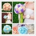 Свадебный букет искусственный роуз свадебных розовый белый синий букет невесты свадебные аксессуары buque де noiva