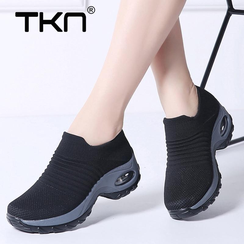 2019 Mulheres Primavera Sapatilhas Flats Sapatos de Plataforma para As Mulheres Tenis Feminino Sapatos Malha Respirável Sapatilhas Sapatos de Mulher 1839