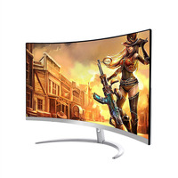 Wearson 3000R 27 inch Curved Wide Screen LCD Gaming Monitor 2mm Side Bezel Less HDMI VGA input Flicker Free