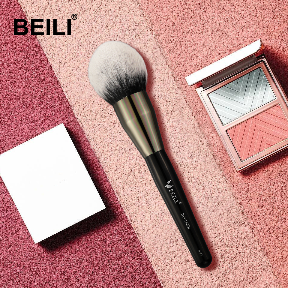 BEILI Black Big Powder Blush Definer Synthetic Hair Makeup Brushes #803 high quality Cruelty Free beili single 104 flat kabuki single synthetic hair face для умывальника румяна черная макияжная кисть