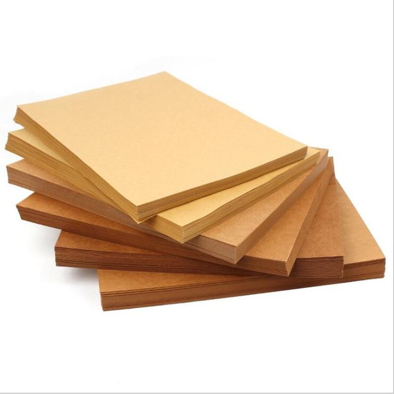 70-200gsm 50 pcs/100 pièces haute qualité A3 papier Kraft brun bricolage carte faisant de l'artisanat papier bricolage carton épais carton