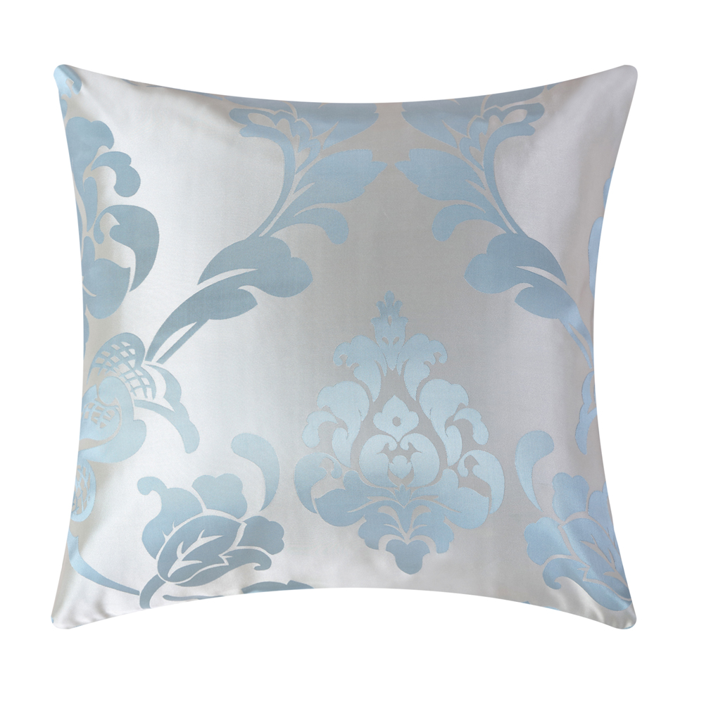 Blue floral jacquard fabric Wholesales Pillow cushion tan Grey Cushion cover floral Home Decorative 45x45cm/50*50cm