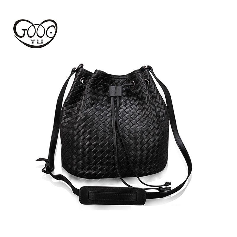 Fashion leather bucket type belt buckle women's shoulder bag leisure geometric pattern woven women's Messenger bag fashion elastic woven pin buckle belt
