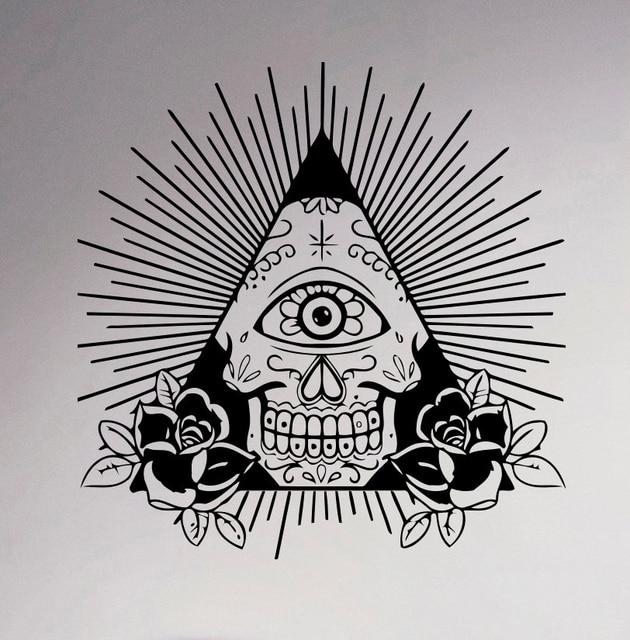 Illuminati Symbol Wall Decal All Seeing Eye Vinyl Sticker Decor