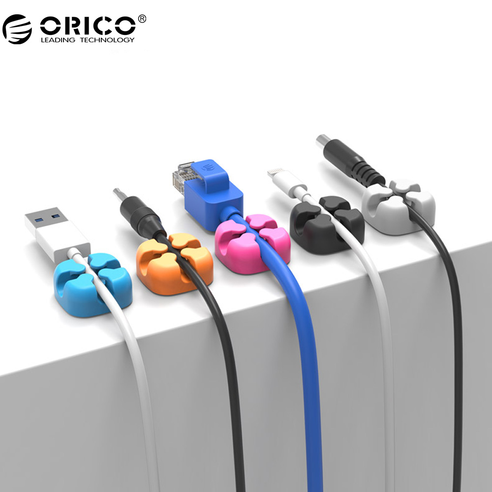 ORICO 10Pcs Colorful Cable Winder Wire Storage Silicon Cable manager Holder Desk Tidy Organiser For Digital Cable стоимость
