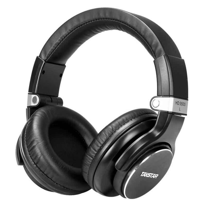 Monitor de Estudio de Auriculares Takstar HD5500 Dinámico 1000 mW Potente Pro DJ