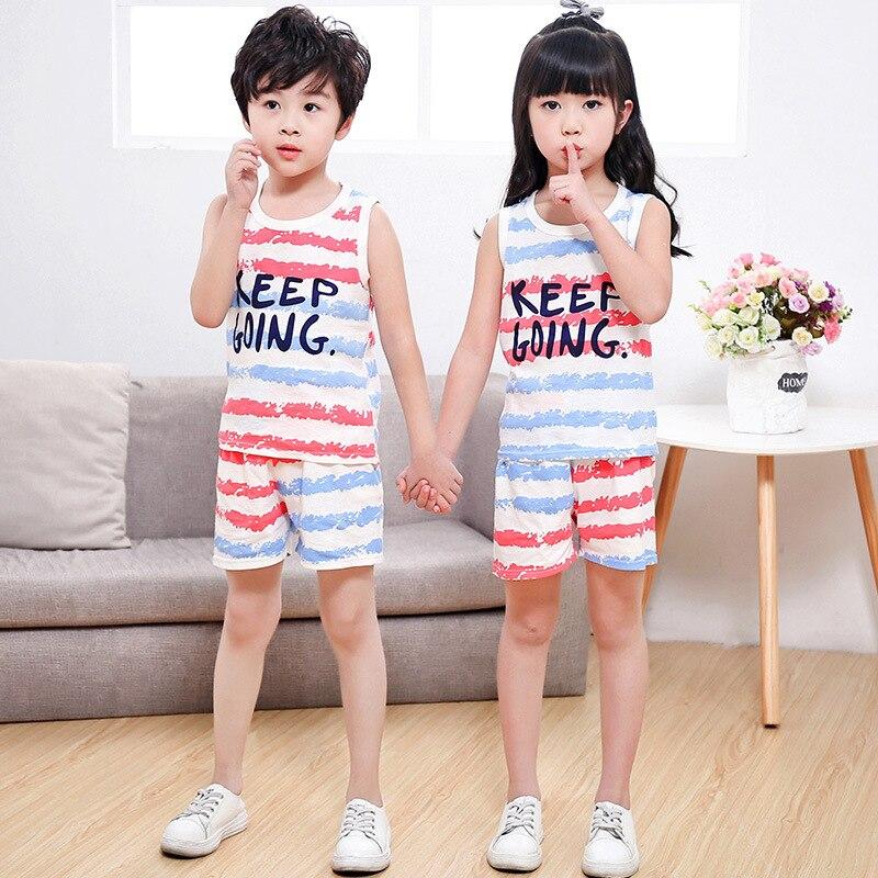 Bébé garçon vêtements été 2019 nouveau-né garçon fille vêtements ensemble coton bébé vêtements costume (chemise + pantalon) rayé enfant vêtements ensemble DS9