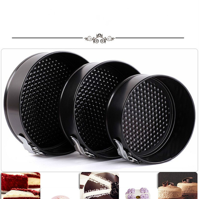 3 Pieces Buckle Round Nonstick Cake Mold  Inch 10 Inch High Temperature Oven Bottom Mold Cake Pan High Quality