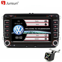 Junsun 7 Inch 2 Din Car DVD Radio Player For Volkswagen VW Golf 6 Touran Passat