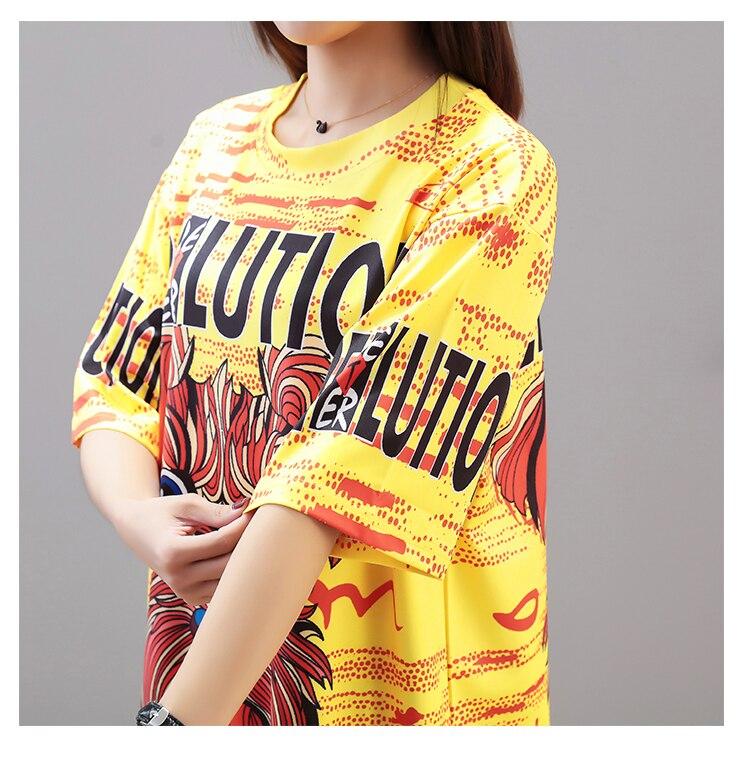 2019 New Harajuku Funny Women T Shirts Dresses Short Sleeve Long Design Oversize Women Dresses Tee Shirts Summer Style 3