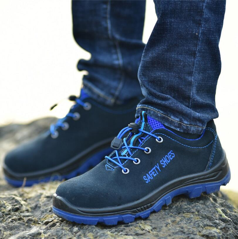 Men/'s Work Safety Shoes Boots Steel Toe and Midsole Puncture Proof Footwear