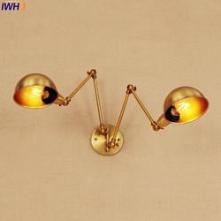 Klasyczna ściana w stylu loft 2 głowice oświetlenie domu regulowana lampa ścienna z długim ramieniem Arandelas LED światła schodowe arm wall light led stair lightstair light -