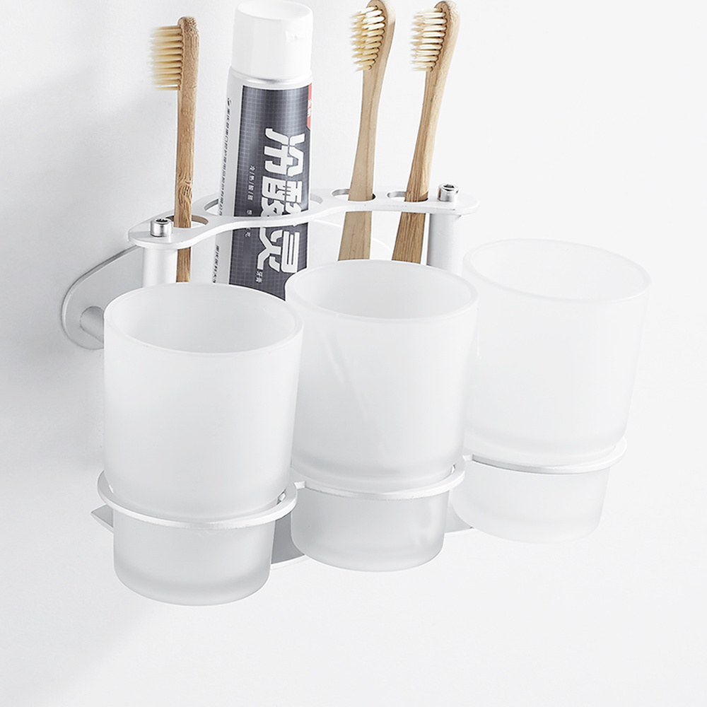 Punch-free toothbrush holder toothpaste box brushing cup set mouthwash cup wash tooth with wall hanging bathroom LO718706 dentyl active alcohol free mouthwash 500ml