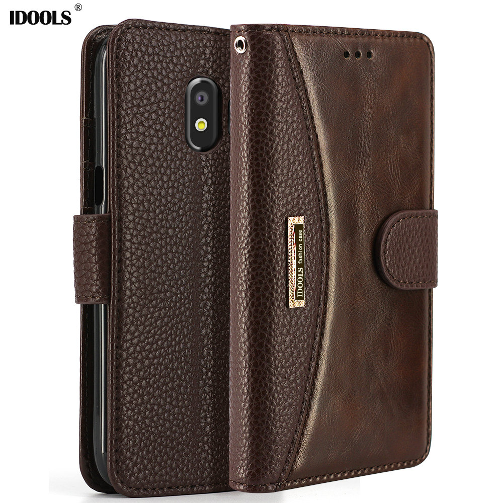 J5 Smart Flip Luxury Wallet Stand Cover Cases, Covers & Skins Bright Leather Case For Samsung Galaxy J3 Cell Phones & Accessories
