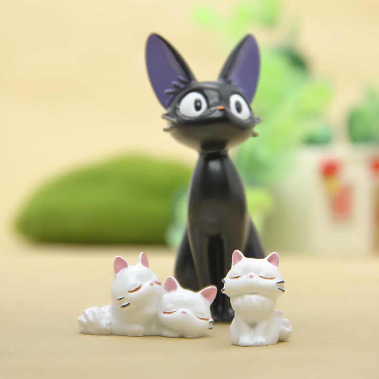 Serviço de Entrega de Kiki Jiji Gato preto E Branco Gato Diy boneca Animiation Action Figure Crianças Brinquedos Modelo Boneca de Presente Em Miniatura casa