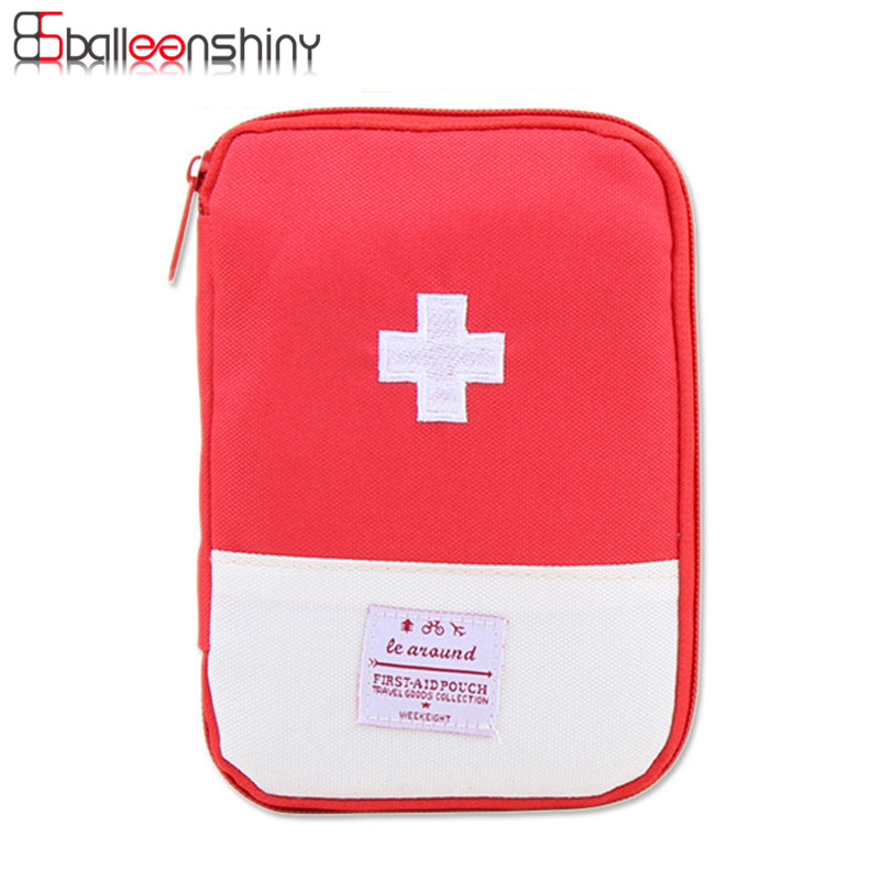 BalleenShiny Mini First Aid Medical Kit Portable Travel Outdoor Small Medicine Storage Bag Camping Emergency Survival bag