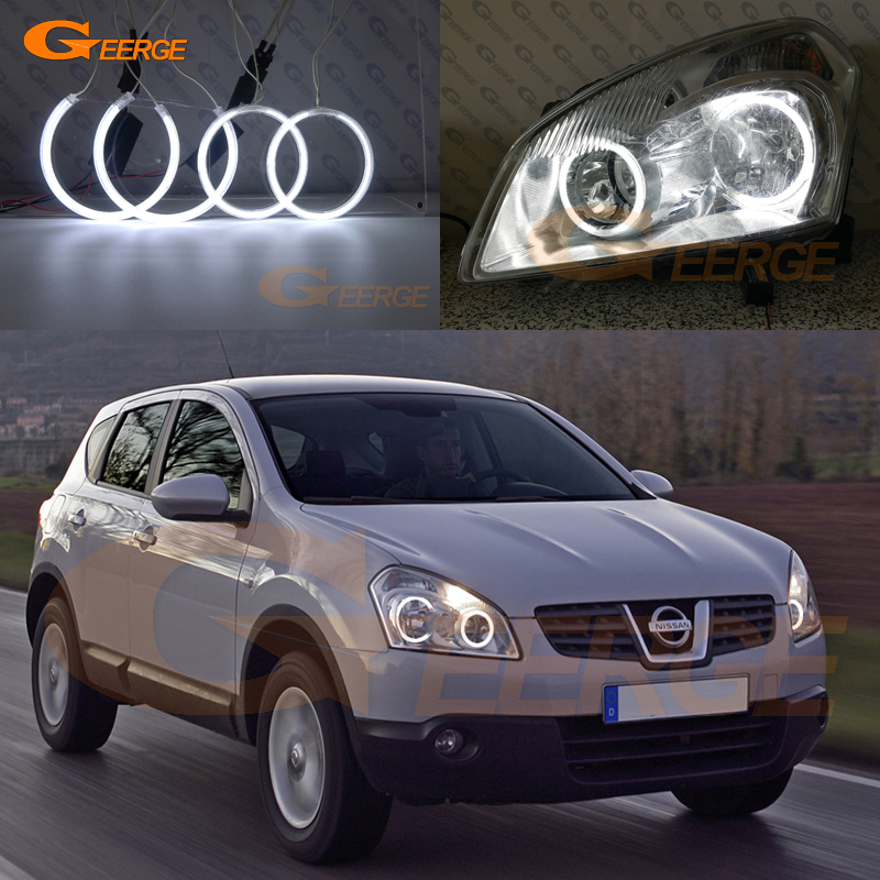 For Nissan Dualis J10 series 2007 2008 2009 Excellent angel eyes Ultra bright illumination CCFL Angel Eyes kit Halo Ring for mazda 6 mazda6 mk2 2008 2009 2010 2011 2012 ruiyi excellent ultra bright illumination ccfl angel eyes kit halo ring