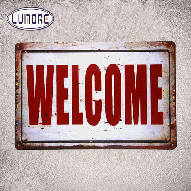 Metal Tin Sign Welcome Bar Pub Vintage Retro Poster Store Pub Home