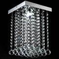 Modern led lustre de cristal lâmpada pingente 20*20*28.5 centímetros lustre de cristal para sala de estar sala de jantar em casa decoração wpl050