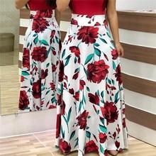 Women Summer Long Dress Floral Print Bohemian Beach Maxi Dress Casual Patchwork Short Sleeve Party Dresses Vestidos Verano 2019