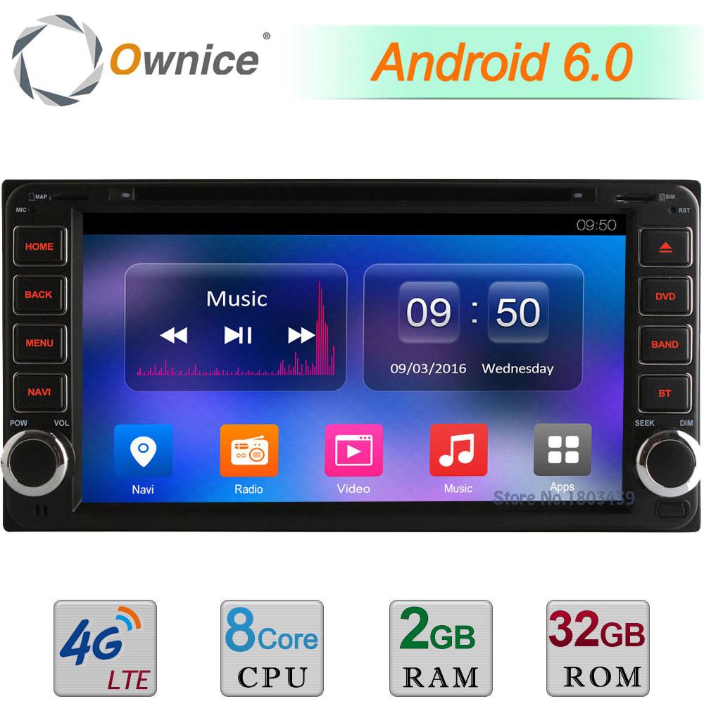 2GB RAM 32GB ROM Android 6.0 Octa Core 4G DAB Car DVD Player Radio For Toyota Corolla Prado FJ Cruiser RunX Tundra Sequoia Hiace