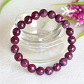 Free Shipping Natural Genuine Red Ruby Finished Stretch Bracelet Faceted Round Loose beads 8-13mm Jewelry DIY 04349