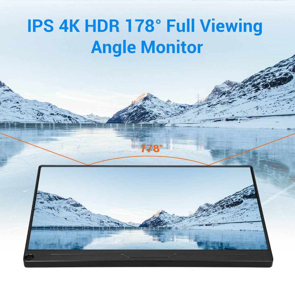 """Image 3 - Eyoyo 13.3"""" FHD 3840 x 2160 4K IPS Gaming Monitor compatible for Game Consoles PS3 PS4 WiiU Switch Raspberry Mini PC ComputerLCD Monitors   -"""