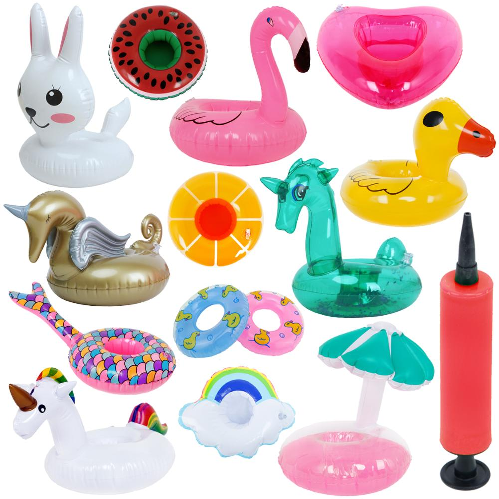 Fashion Mini Swimming Lifebuoy Lifebelt Float Summer Beach Pool Ring Buoy Pump Accessories for Barbie Doll Kid Birthday Bath Toy MINI