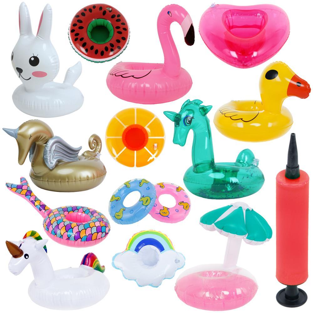 Fashion Mini Swimming Lifebuoy Lifebelt Float Summer Beach Pool Ring Buoy Pump Accessories for Barbie Doll Kid Birthday Gift Toy