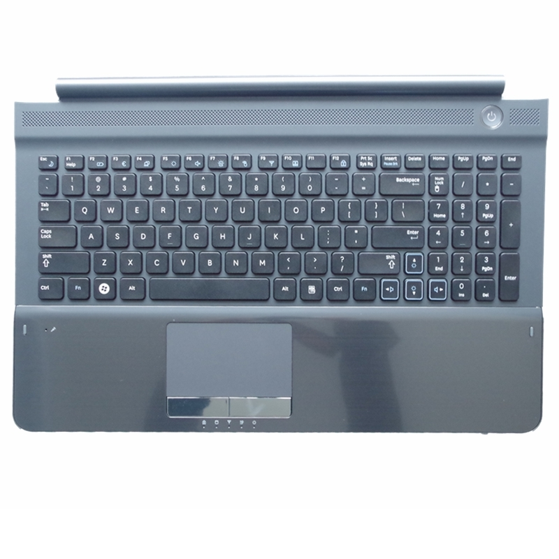 NEW Keyboard for SAMSUNG RC512 RC510 RC520 US Replace laptop keyboard With Gray Frame touchpad and Speaker