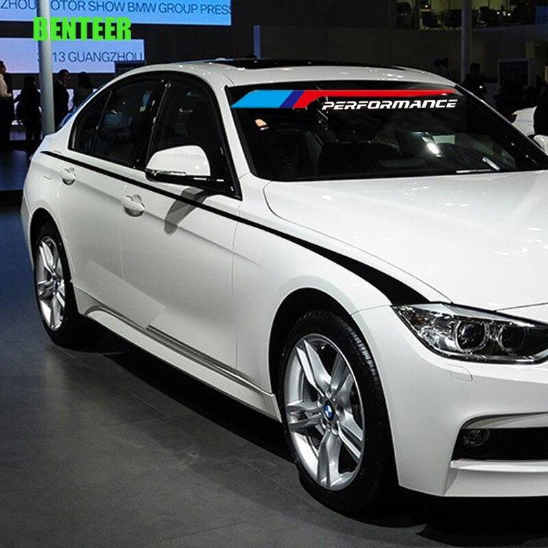 2pcs M Power Performance Car Windscreen Windshield Sticker