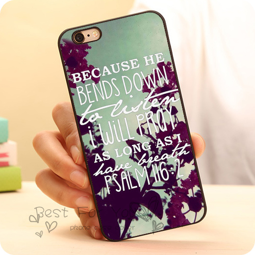 Cute Psalm Bible Verse Quote Hard Plastic Skin Mobile Phone Case Accessories For IPhone 6 6plus 5c 5s 5 4 4s Cover Original On Aliexpress