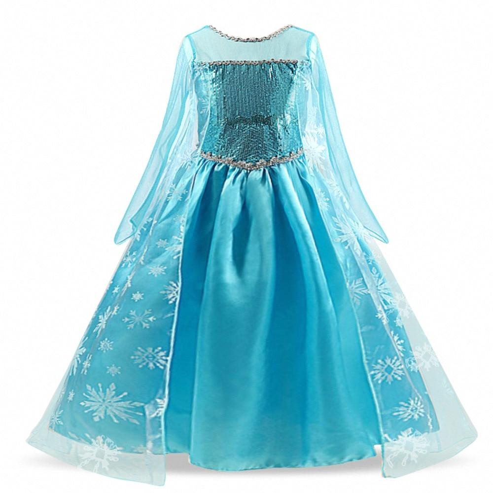 HTB1XUUQcEGF3KVjSZFvq6z nXXaU Cosplay Queen Elsa Dresses Elsa Elza Costumes Princess Anna Dress for Girls Party Vestidos Fantasia Kids Girls Clothing Elsa Set