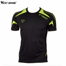 WEST BIKING Bicycle Jersey Mens Bike Shirts Slim Shirts Male T-shirt Men Quick Dry Shirts Running Sports Short Sleeve Jersey