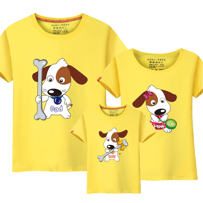 Mother & Kids 2019 Fashion Baby Boys T Shirt Mother Father Son Matching T Shirts Outfits Puppy Dog Pattern Mommy And Me Clothes Family Matching Outfits Making Things Convenient For Customers