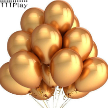 Gold Balloons 10pcs/lot 12 Inch Thick 2.8g Latex Helium Balloons Wedding Decoration Inflatable Air Balls Birthday Party Supplies(China)
