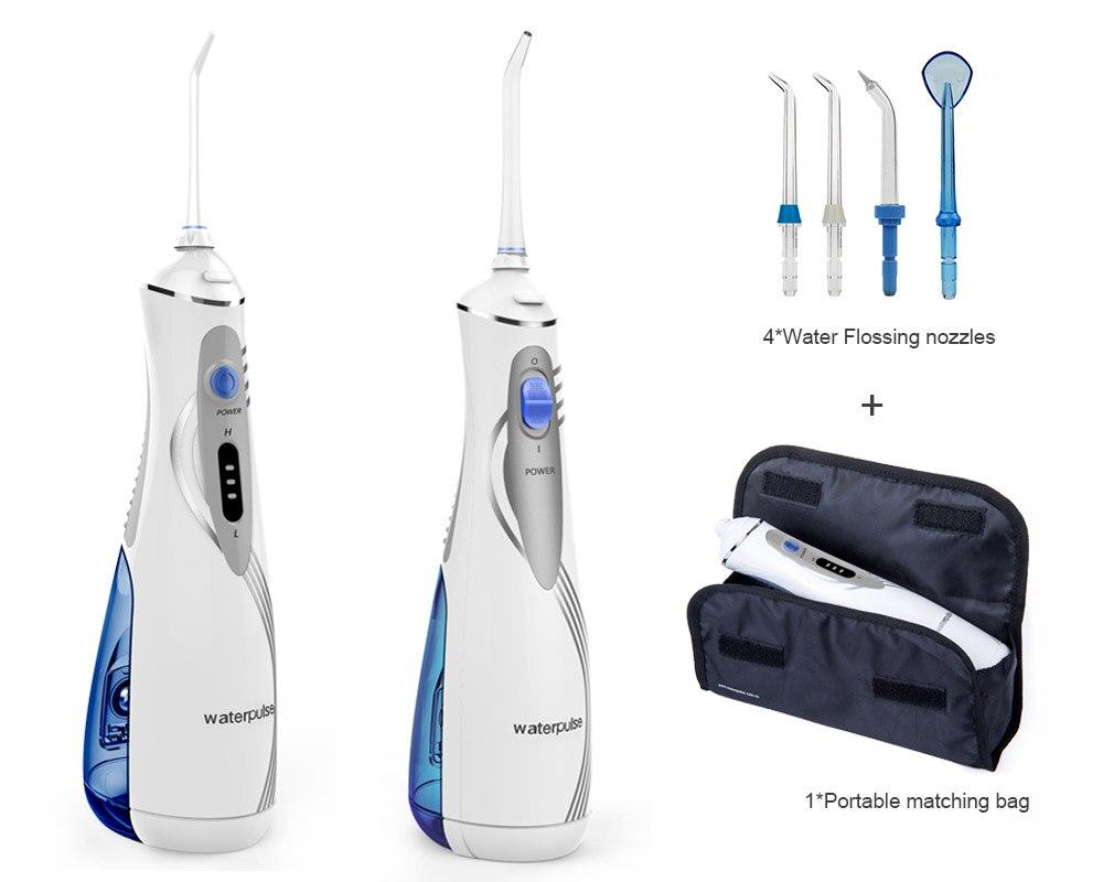 купить Portable led rechargeable Li-Ion battry Oral Water Dental Flosser Irrigator, Waterpulse V400 Plus, Oral Hygiene tools with bag недорого